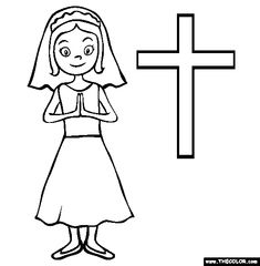First Holy Communion Coloring Pages | Printable Coloring Pages ... | 240x235