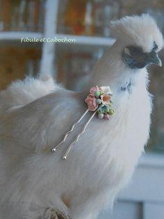 Epingle à cheveux Accessoire coiffure Shabby Romantique Mariage Cérémonie - Bouquet de fleurs - Perles : Accessoires coiffure par fibule-et-cabochon