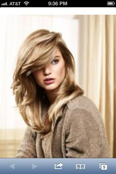 Cashmere Blonde.  Achieved by applying all over color (level 8) with highlighting woven thru the ends. Gorgeous!  Spotted this @ http://www.modernsalon.com/hair-photos/how-to/Cashmere-Blonde-Keune-So-Pure-Formula-Creates-Soft-Tones-200299251.html