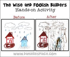 wise and foolish builders hands-on activity www.daniellesplace.com