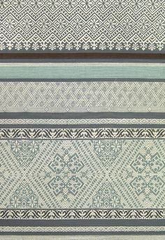 Bali Fabric Traditional Balinese inspired embroidered cotton fabric with small, eclectic design in Teal and Cream.  Suitable for Curtains and General Domestic Upholstery.