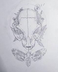 Requiest CAT in pace #bigotillos #neverforget #drawing #tattoo #catskulltattoo #cat #skull #catskull #flowers #requiesCATinpace
