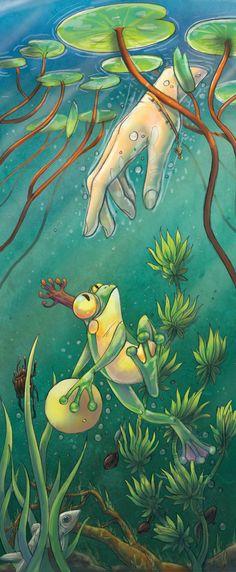 The Frog Prince by FriedaVanRaevels.deviantart.com on @deviantART