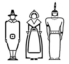 Make these pilgrims and Indian finger puppets to keep kids busy while waiting for Thanksgiving dinner.      GrandmaIdeas.com