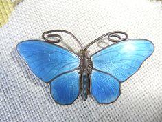 Marius Hammer Vintage sterling enamel Butterfly Brooch 1900s Norway. $141.80, via Etsy.