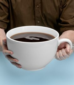 A coffee cup that holds 160 ounces of coffee? @Paula Laird Would this be good for your mornings? LOL!