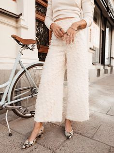 textured white on white street style