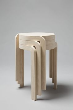 ideas-about-nothing:  Wooden stoolsDesign byStaffan Holm