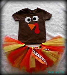 Turkey Outfit w/Tutu by DenimandMe on Etsy