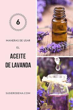 Aceite de lavanda - 6 maneras simples de usarlo  Aceite de lavanda. Un artículo con información detallada que te muestra los diversos beneficios del aceite de lavanda y sus múltiples usos en la belleza.  #consejos #belleza #lavender #beautytips