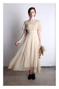 GATSBY GOWN 1920s Silk Flapper Dress  High Fashion  by VeraVague, $350.00