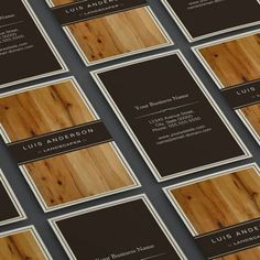 Pinkograf wood business cards cicie laserem pinterest wood landscaper stylish wood texture business card template reheart Image collections