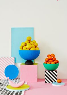 Charlotte Love is a London-based interior stylist and set designer who recently made a color pop series with still-life photographer Joanna Henderson for Heart Magazine. The talented prop designer ...
