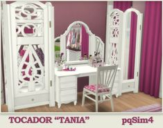 PQSims4: Dressing table Tania • Sims 4 Downloads