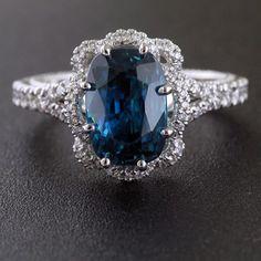 Verragio Blue Zircon Custom Creation exclusively at Baribault Jewelers. Verragio Wedding Bands, Wedding Ring Bands, Blue Zircon, Platinum Ring, Jewelry Branding, Modern Fashion, Sapphire, Engagement Rings, Jewels