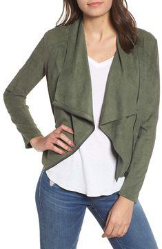 Plus Size Women's Blanknyc Drape Front Faux Suede Jacket, Size - Green Drape Front Jacket, Stylist Pick, Spring Jackets, Cute Jackets, Green Suede, Blank Nyc, Suede Jacket, Lightweight Jacket, Fashion Outfits