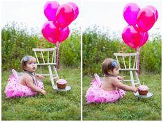 one year photo shoot idea cake smash madison, wi family photographer