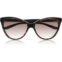 Yves Saint Laurent Cat eye acetate sunglasses ($170) ❤ liked on Polyvore featuring accessories, eyewear, sunglasses, yves saint laurent, sunnies, ysl, black, print sunglasses, uv protection glasses and uv protection sunglasses
