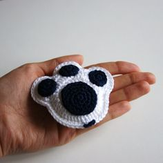 Crochet Keychain Pet Paw. €4.00, via Etsy.THIS WOULD GO ESPECIALLY WELL AT THE PAUL SCHOOL.