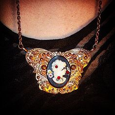 Grecian Steampunk Goddess  A necklace by VintageNoirMaison on Etsy