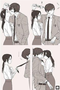 Anime Couples Drawings, Anime Couples Manga, Manga Anime, Anime Naruto, Anime Couple Kiss, Anime Kiss, Manga Couple, Romantic Anime Couples, Romantic Manga