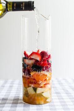 Berry Kombucha Sangria//