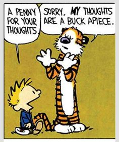 Calvin and Hobbes humor. Don't sell yourself short!