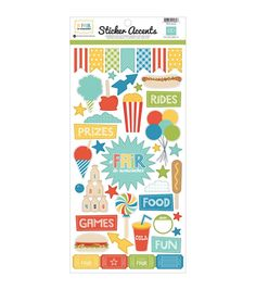 """Echo Park Paper Company? A Fair To Remember Stickers 6""""x12"""""""