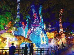 Dinosaur lanterns   Houston Magical Winter Lights Festival   Culture Map BilliardFactory.com