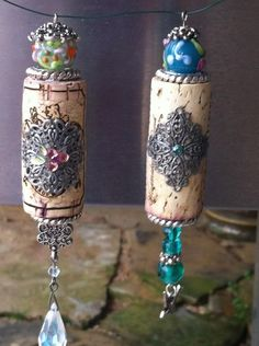 Simple But Beautiful Wine Bottle Cork Crafts Wine Bottle Cork Crafts Bottle Cork Crafts 3 Wine Craft, Wine Cork Crafts, Wine Bottle Crafts, Wine Cork Jewelry, Wine Cork Art, Bottle Jewelry, Wine Cork Ornaments, Wine Cork Projects, Wine Bottle Corks