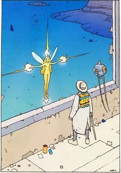 "Moebius. ""Montrouge Mystery"" 2001 Illustration 3 Stardom Edition"
