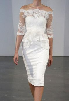 Perfect little 'second wedding' dress! Or third, or fourth...;)