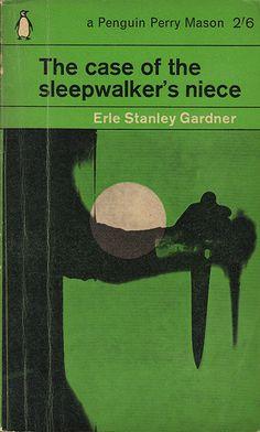 Vintage Penguin Eric Stanley Gardner 'The case of sleepwalker's niece' Best Book Covers, Vintage Book Covers, Book Cover Art, Comic Book Covers, Book Cover Design, Vintage Books, Antique Books, Penguin Books, Cool Books
