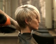 Pixie Cut With Long Bangs, Very Short Hair, Short Hair With Layers, Short Hair Cuts, Short Hair Styles, Pixie Cuts, Short Pixie, Cute Short Haircuts, Short Hairstyles For Women