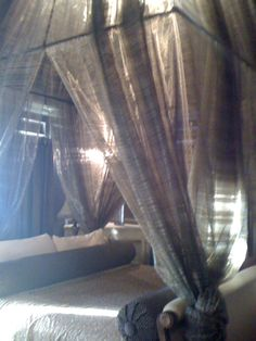 The honeymoon suite at Campbell Hotel! It was booked already but we got to see it during the tour. The bed is amazing!