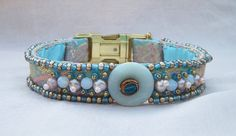 Items similar to Pastel Luxury Dog Collar Handmade and Beaded with Glass and Freshwater Pearls on Etsy Luxury Dog Collars, Dog Wedding, Gold Glass, Pale Pink, Glass Beads, Metallic, Pastel, Beaded Bracelets, Couture