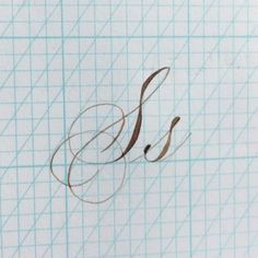 the letter S Letter S Calligraphy, Copperplate Calligraphy, Hand Lettering Alphabet, Calligraphy Handwriting, Penmanship, Caligraphy, Handwriting Examples, Cursive, Creative Lettering