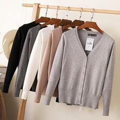 "HOT PRICES FROM ALI - Buy ""Autumn Winter V-Neck Woman Cardigan Women casual Sweet Crochet Knitted Blouse Long-sleeve Tops Women long Sweaters Cardigans"" from category ""Sports & Entertainment"" for only USD. Sweater And Shorts, Sweater Coats, Long Sleeve Sweater, Knit Cardigan, Long Sleeve Tops, Cardigan Sweaters, Black Cardigan, Oversized Sweaters, Cropped Cardigan"