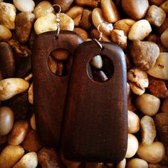 """Bombshell Beauty"" Wooden Earrings by Trendy Finds 