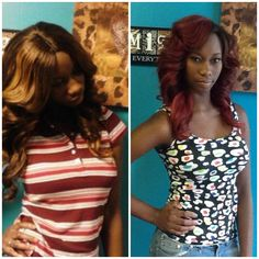 Brown or Red, you can have both! Queen of Diamonds Hair Boutique! www.queenofidiamondshairboutique.com