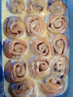 Pioneer Women receipe for cinnamon rolls.  Yum yum yum!