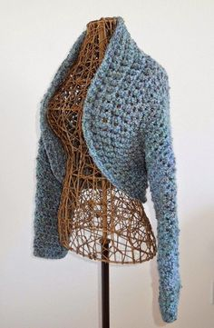 Easy To Make No-Seam Crochet Shrug: free crochet shrug pattern