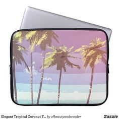 Elegant Tropical Coconut Trees | Laptop Sleeve Custom Laptop, Best Laptops, Best Sites, Personalized Products, Laptop Sleeves, Your Photos, Looks Great, Coconut, Tropical