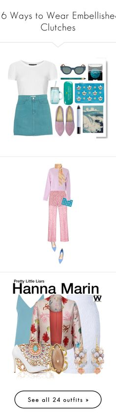 """""""16 Ways to Wear Embellished Clutches"""" by polyvore-editorial ❤ liked on Polyvore featuring waystowear, EmbellishedClutches, Topshop, GUESS, Emilio Pucci, Laura Mercier, shu uemura, CÉLINE, ALADDIN and Happy Jackson"""