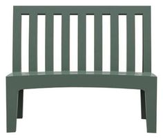Roméo Bench with backrest Sage green by Serralunga