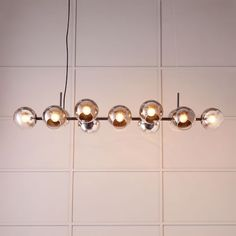 Staggered Glass Chandelier - 12-Light | west elm