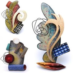New statement brooches ready for the 83rd League of New Hampshire Craftsmen's Annual Fair Aug 6-15. www.nhcrafts.org