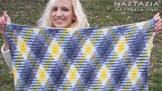 Donna Wolfe from Naztazia http://naztazia.com shows you to crochet a super scarf or an afghan blanket using the planned pooling techique. This special use of...