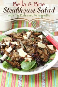 Bella & Brie Steakhouse Salad with Fig Balsamic Vinaigrette - our new favorite! | cupcakesandkalechips.com | gluten free