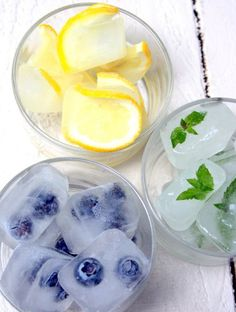 Summer themed ice cubes